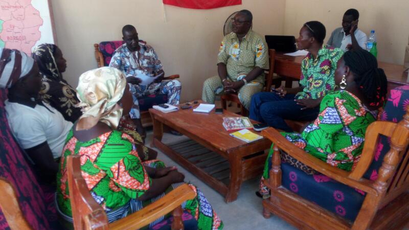 Réunion préparatoire visite d'échanges au Burkina_mani tese_2017