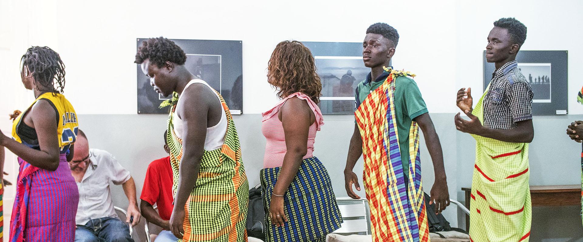 festeggiamenti cerimonia progetto carceri Guinea Bissau Mani Tese 2017
