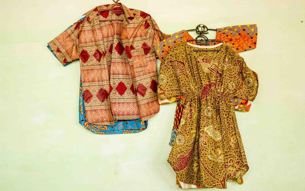 camicie vestiti tessuti africani Guinea Bissau Mani Tese 2018