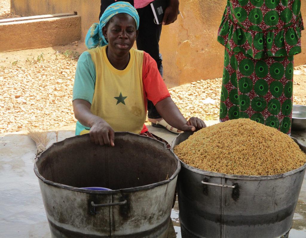 lavorazione riso parboiled donna Burkina Faso Mani Tese 2018