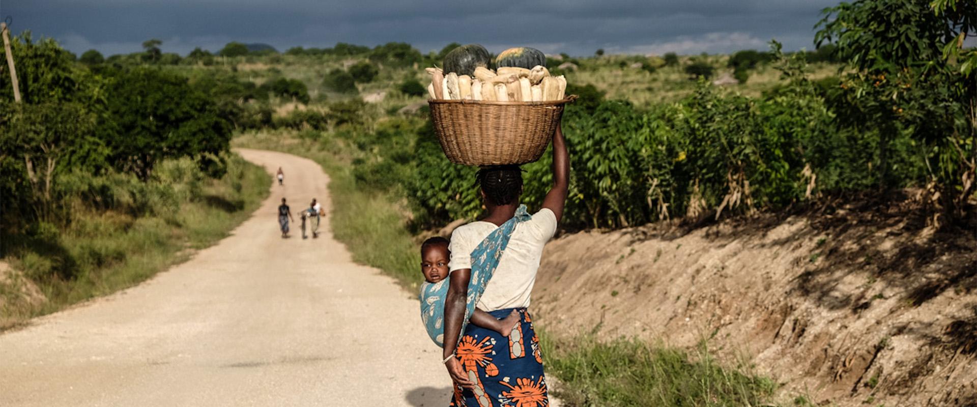 agricoltura donna strada Mozambico Mani Tese 2018