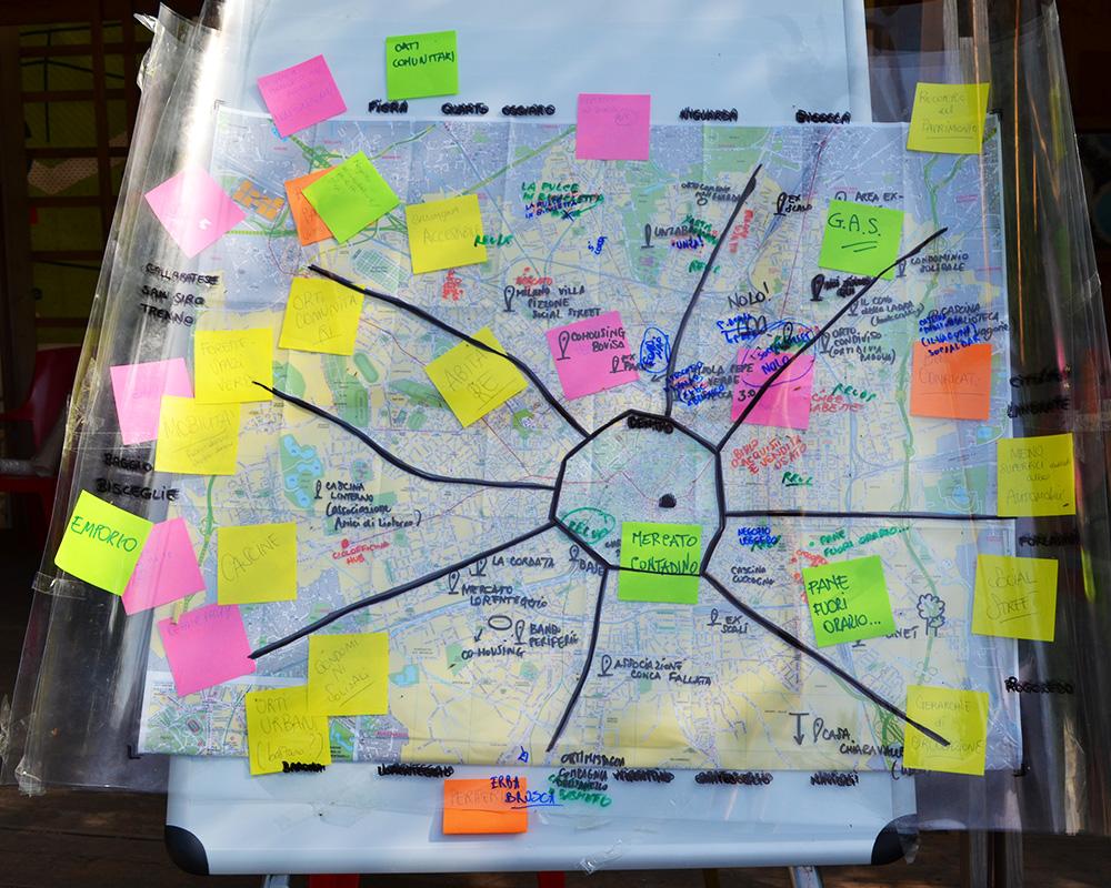 mappa milano sostenibile tavoli Mani Tese 2018