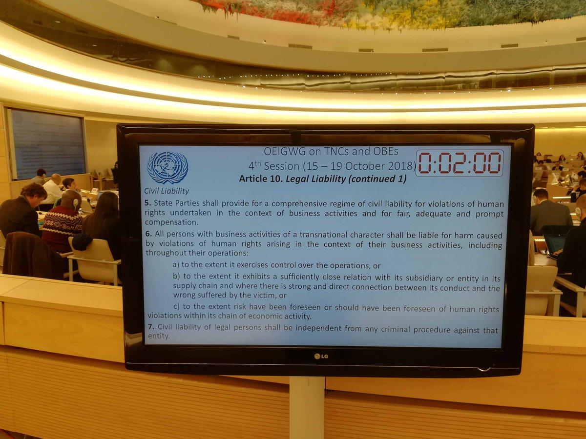Foto ECCJ su Binding Treaty