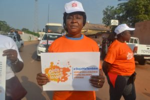 donna attivista violenza 25 novembre Mani Tese Guinea Bissau 2018