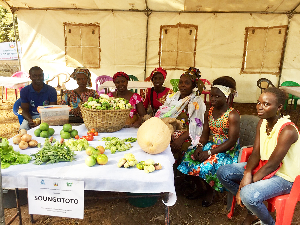 donne produttrici agricole fiera Mani Tese Guinea-Bissau 2019