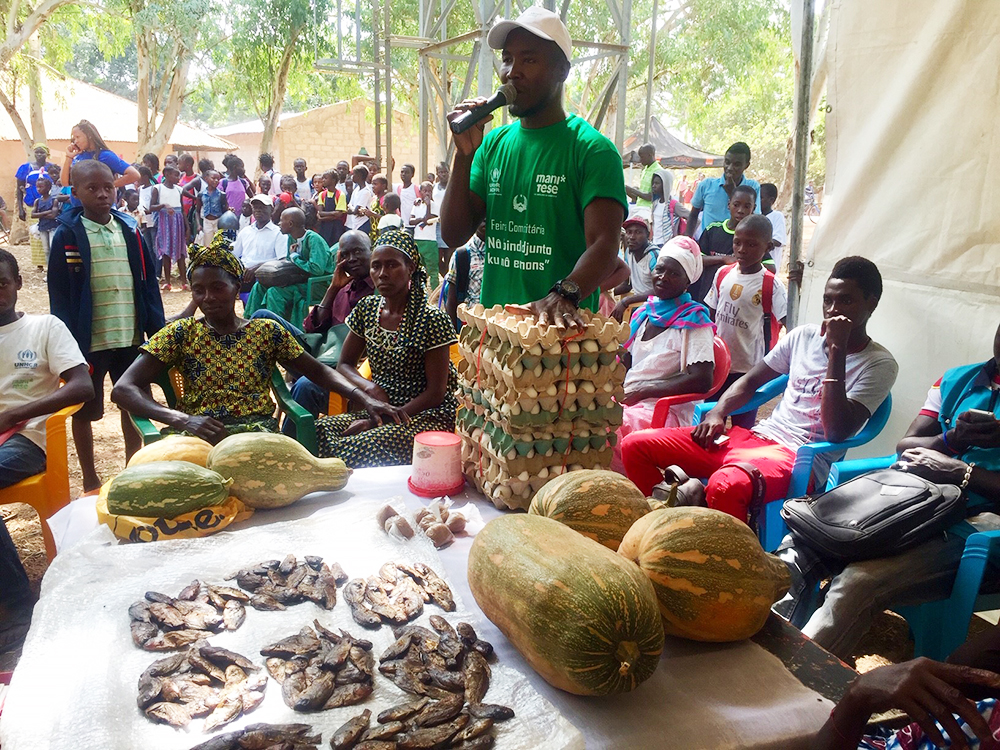 uova verdura fiera comunitaria Mani Tese Guinea-Bissau 2019