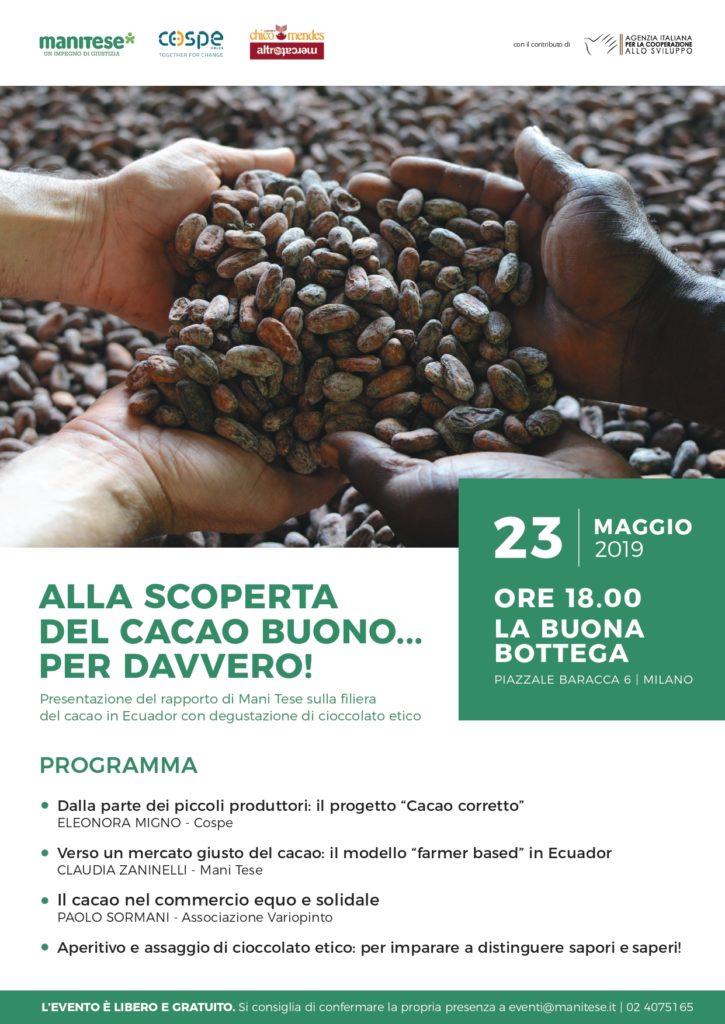 presentazione report cacao milano Mani Tese 2019