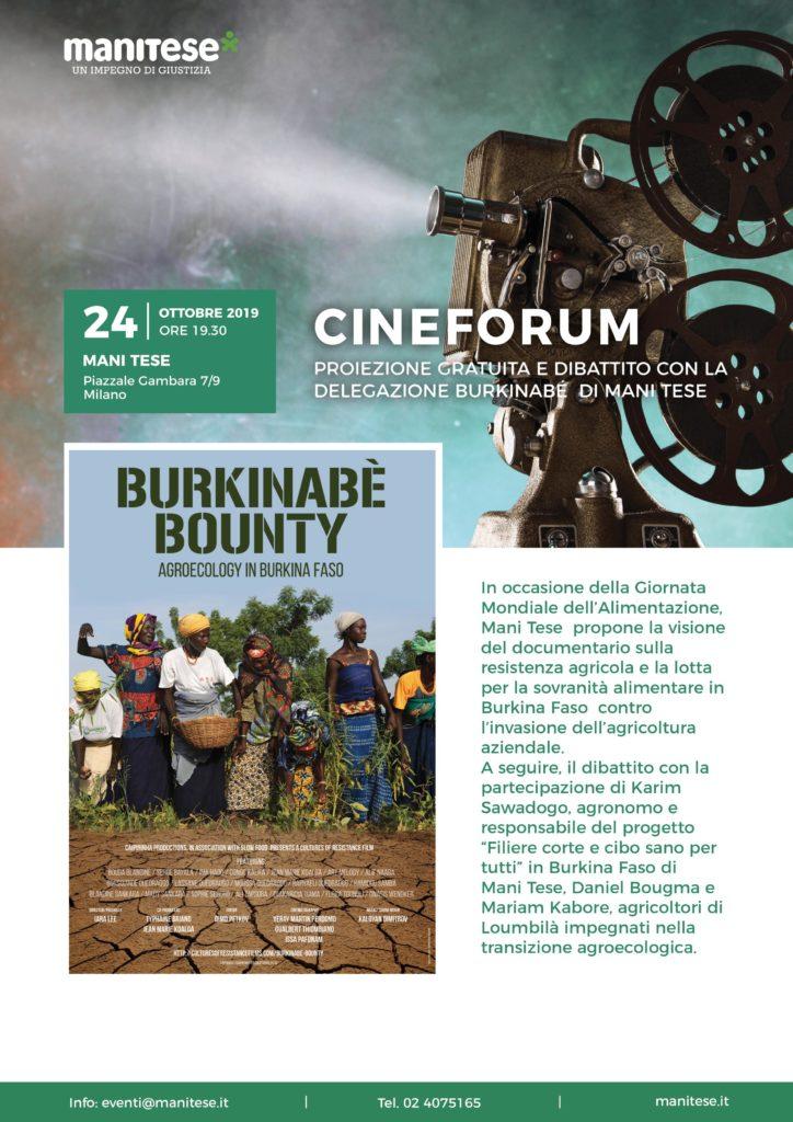locandina Burkinabè Bounty mani tese 2019